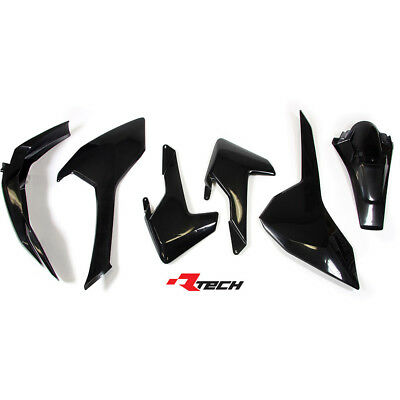 Racetech NEW Mx Husqvarna FE TE TX 2017 RTECH Black Dirt Bike Plastics Kit