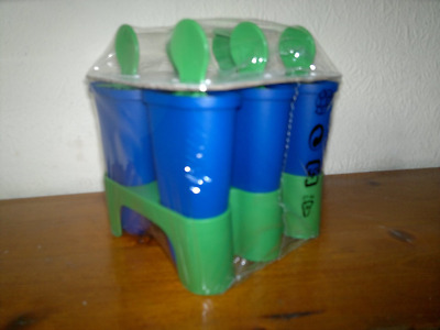 IKEA 6 X Ice Lolly Mould/ Maker, It makes 6 Lollies ~ BLUE