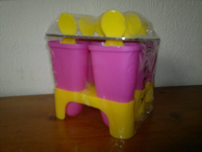 IKEA 6 X Ice Lolly Mould/ Maker, It makes 6 Lollies ~ PINK