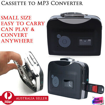 Cassette Tape-to-MP3 Converter to PC USB Capture Audio Portable Music Player