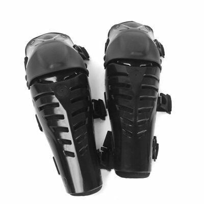 Off-Road Motorbike Racing Knee Guard Pads Protective Gear Black E3J2