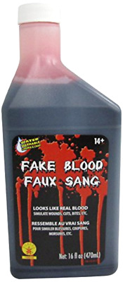 16 Oz Stage Fake Blood Horror Makeup Vampire Halloween Venous Costume Accessorie