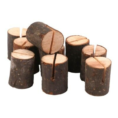 10pcs Wooden Wedding Name Place Card Holders Home Decor K4X5