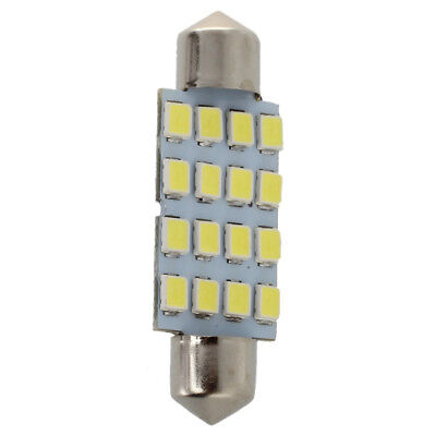 10x 42mm 16 LED Car Interior White SMD 3528 Dome Light Lamp Bulb 211-2 578 Q4R1