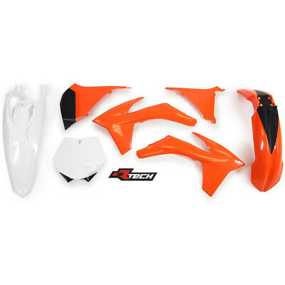 Racetech NEW Mx KTM SX SXF 2011 2012 Motocross White Orange OEM Plastics Kit