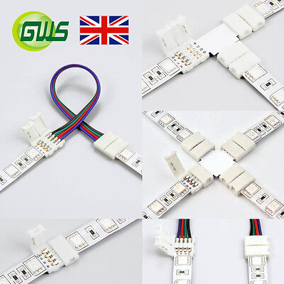5 Pcs 2 Pin/4 Pin S L T X Shape Connector Wire for SMD 3528/5050 LED Strip Light