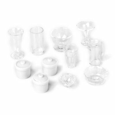 11 piece 1/12 Dollhouse Miniature Plastic Household Kitchen Container Ship H1R4