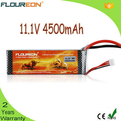 3S 11.1V 4500mAh 30C LiPo Battery Deans for RC Car Airplane Helicopter Truck AU