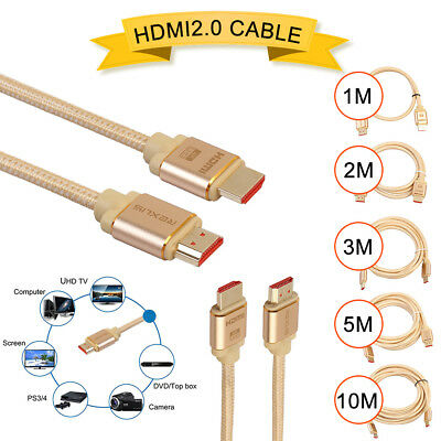 Premium HDMI Cable V2.0 3D 4K Ultra HD Audio Gold Plated HighSpeed 1M ~ 10M ARC