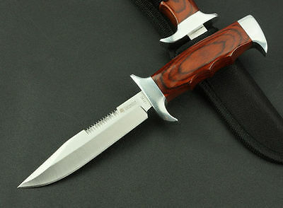 New Design Rosewood Handle Fixed Blade Hunting Hunter Knife K313