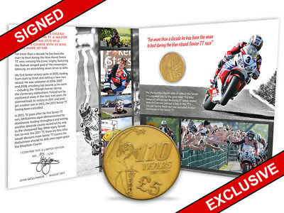 Limited Edition 2017 Signed John McGuinness TT £5 Pound Gift Pack (AH45)
