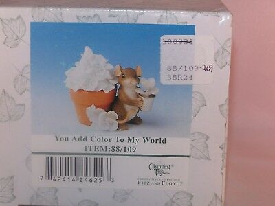 """Charming Tails """"You Add Color To My World"""", Item 88/109, New, Mint Condition"""