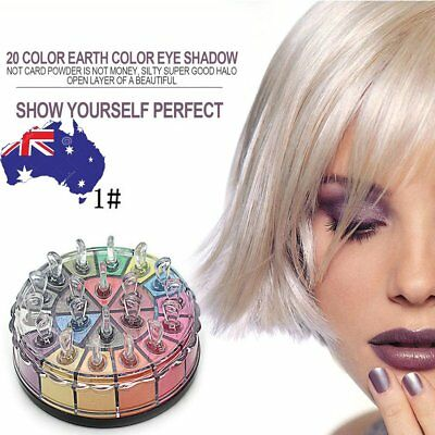 20 Colors Shimmer Eye Shadow Powder Palette Cosmetic Makeup Kit Earth Color ID