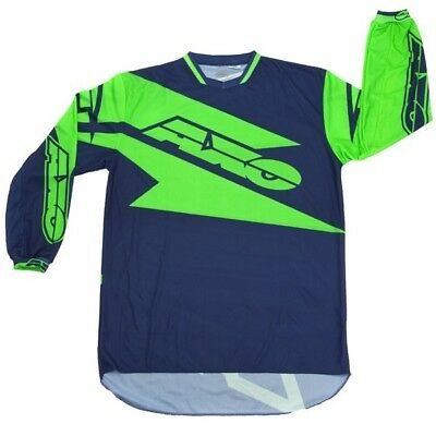 Axo NEW Mx Gear Motion Blue Green Dirt Bike BMX MTB Moto Adult Motocross Jersey