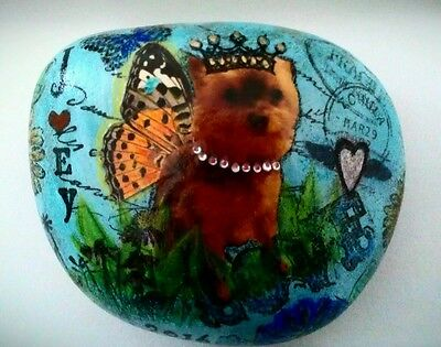 Custom Order Whimsical Pet Rock Garden Home Decor Memorial Stone Gift