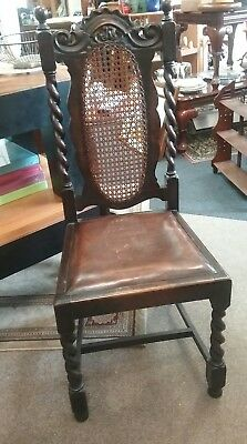 Antique Carved Oak Victorian Gothic Revival Chairs 17th century Style