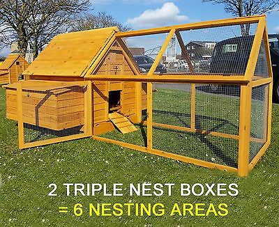 Large Chicken Coop Run Hen House Poultry Nest Box Coops Rabbit Hutch