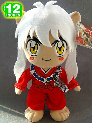 "12"" Cute Inuyasha Standing Inuyasha Red Doll Plush Toy Gift"