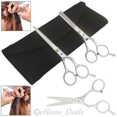 "6"" Professional Hair Cutting & Thinning Scissors Shears Barber Hairdressing Set"