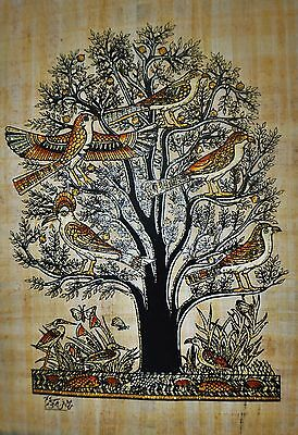 Egyptian Hand-painted Papyrus - Tree of Life