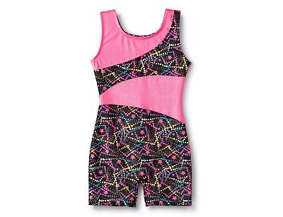 Freestyle® by Danskin® Girls' Star Biketard - Galaxy Black/Pink Medium 7/8