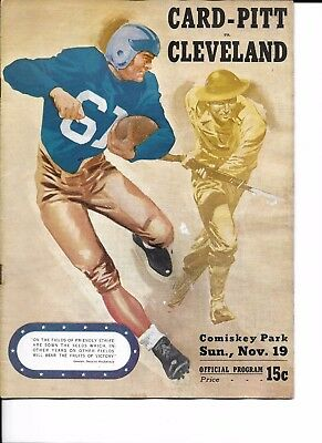 1944 Chi/Pitt Cards/Steelers-Cleveland Rams Program RARE!!