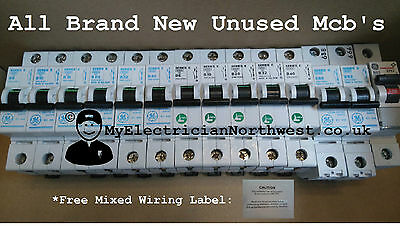 Ge & Steeple Series E, Type B, Mcb, Circuit Breakers, 6 10 16 20 32 40 & Blanks