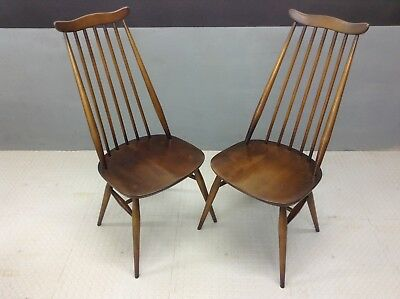 "Pair of early Ercol ""Goldsmith"" Windsor Kitchen / Dining  chairs"