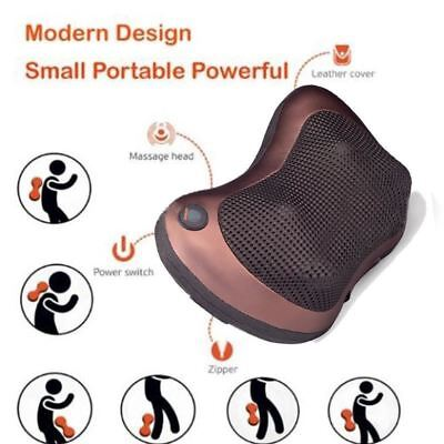 Vibrating Infrared Heating Massage Pillow Neck Cervical Traction Pain Relief Rel