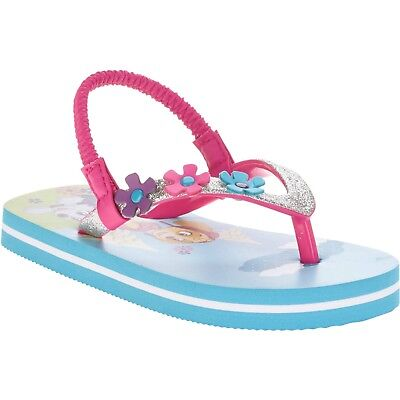 PAW PATROL or FROZEN Toddler Girls' Beach Flip Flop, NWT, Size Small (5-6)