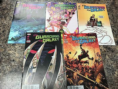 Marvel All New Guardians of the Galaxy #3, #4, #5, #6, #7 NM