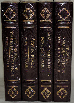 Lot of (4) Pope John Paul II Books - Easton Press-Leather Bound - NEW