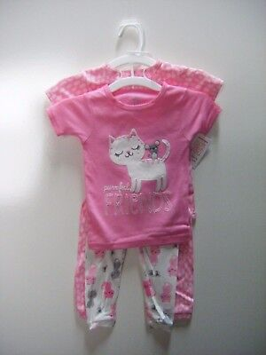 Carter's Just One You - Girls Cat & Mouse 4-Piece Pajama Set