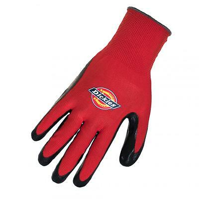 Dickies Red Latex Foam Dipped on Polyester Liner Work Gloves (L/XL) 1 Pair