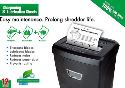 *BEST Shredder Sharpening Sheets Lubrication Cut Paper Reducing Paper Dust Noise