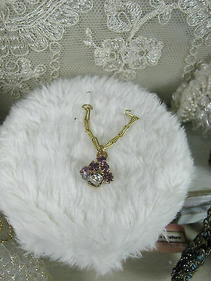 Necklace gold/pink    .Dollhouses Scale 1/12