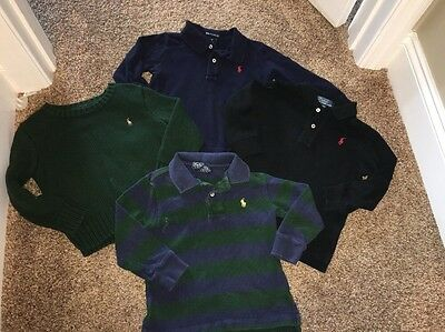 Lot Of 4 Ralph Lauren Toddler Boys Size 2T Sweaters Tops Long Sleeve Polo Pony
