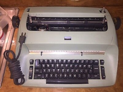 VTG IBM Selectric Retro Green Typewriter Classic!