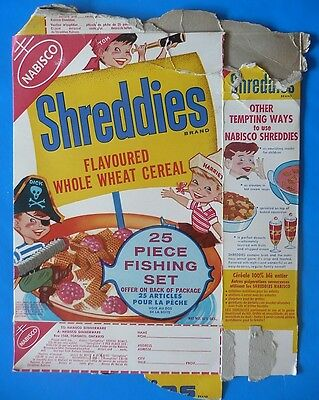 Shreddies vintage cereal box Pirate English French Tom Dick & Harriet