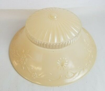 Vintage Round cream Glass Ceiling Light Hanging Dome Bead Design 3 Hole Cover