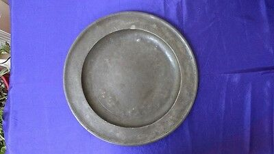 """Antique Pewter Plate (15"""")"""