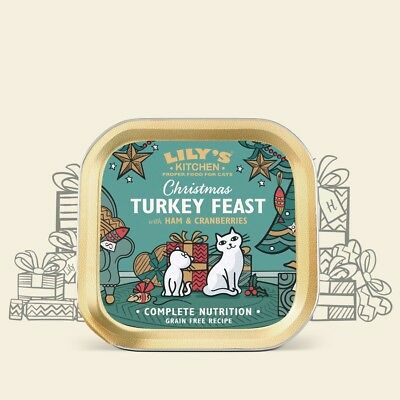 Lilys Kitchen Christmas Turkey Feast Food - Ideal Christmas Kitten or Cat Gift