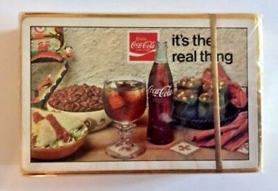 Set of Two Rare Coke Coca Cola Collectable Playing Cards It's the Real Thing