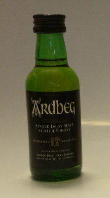 ARDBEG Scotch 17 Y.O. Whiskey Sealed 50ml Single Serve