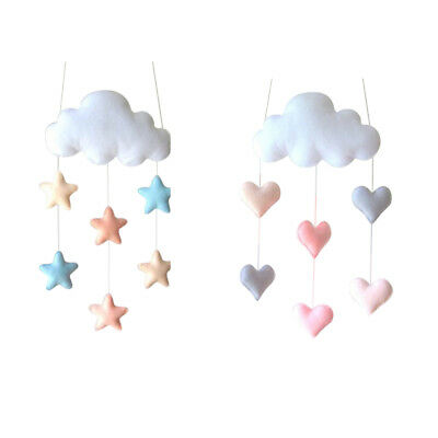 Hanging Cloud Baby Nursery Mobile Wall Decor Gift Toy for Baby Shower