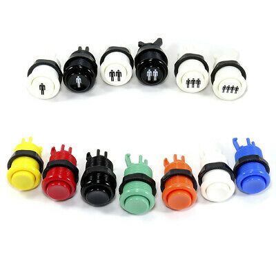 Boton Arcade Americano 28mm Pulsador Botones Pushbutton Recreativa Bartop