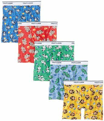 Fruit of the Loom Little Boys  Boxer Brief , Multi, 2T/3T, Pack of 5