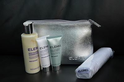 Elemis Gift Set Marine Cream, Shower Cream, Rose Exfoliator with Travel Bag