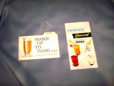 Vintage Smirnoff Vodka & Tang Cocktail Recipes Drink Mixing BOOKS