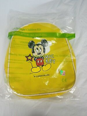 Disney Mickey Mouse Mini Back Pack Cathway Pacific Inflight travel kit.